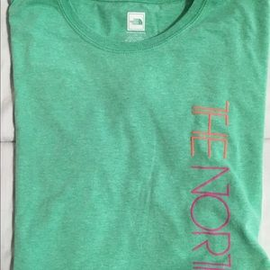 North Face Short Sleeve Top Green L